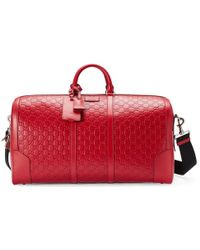 Gucci - Signature Leather Duffle - Lyst