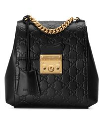 87ebd96f776 Lyst - Gucci Limited Edition Black Leather Bamboo Backpack in Black
