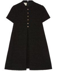 Gucci Robe en tweed lamé - Noir