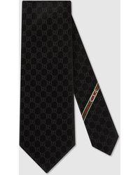 Gucci - 【公式】 (グッチ)GGパターン シルクタイブラック シルクブラック - Lyst