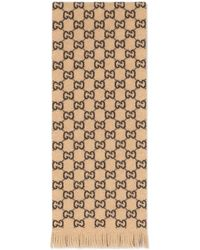 Gucci - Écharpe en laine GG - Lyst