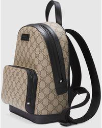Gucci Kleiner Rucksack aus GG Supreme - Natur