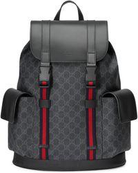 Gucci Rucksack aus weichem GG Supreme - Schwarz
