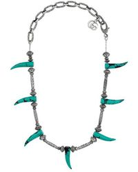 Gucci - Turquoise Horn Necklace - Lyst
