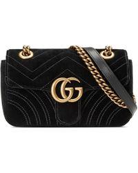 bf2006f56 Gucci GG Marmont Velvet Shoulder Bag - Save 18% - Lyst