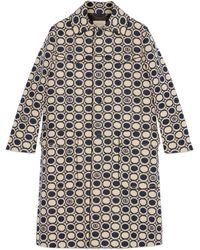 Gucci Mantel aus Baumwollmischung mit geometrischem Doppel G - Blau