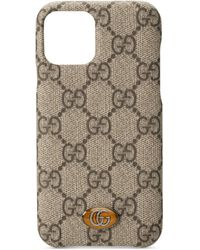 Gucci Cover per iPhone 11 Pro Ophidia GG - Neutro