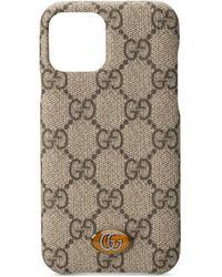 Gucci Funda para iPhone 11 Pro Ophidia con GG - Neutro