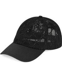 Gucci Gorra de béisbol con borrado GG - Negro