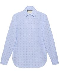 d047a7b53c0 Lyst - Gucci L aveugle Par Amour Fil Coupé Duke Shirt in White for Men