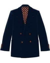 Gucci Velvet Jacket - Blue