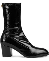 Gucci - Patent Leather Boot - Lyst