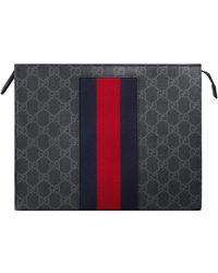 Gucci GG Supreme Web Cosmetic Case - Black