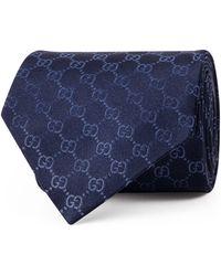Gucci Cravate au motif GG - Bleu