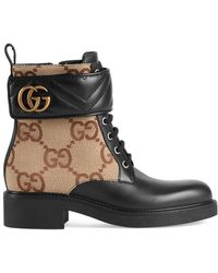 Gucci Ankle Boot With Double G - Black