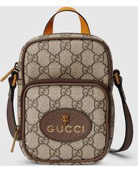 Gucci - 【公式】 (グッチ)〔ネオ ヴィンテージ〕ミニバッグベージュ&エボニー GGスプリームベージュ - Lyst