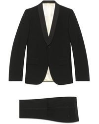 Gucci Tapered Wool Mohair Tuxedo - Black