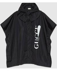 Gucci 【公式】 (グッチ) プリント ナイロン ケープブラック ナイロンブラック