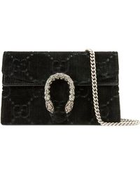 Gucci Dionysus GG Velvet Super Mini Bag - Black