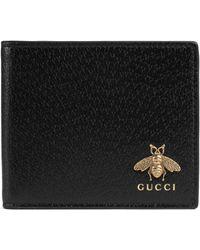 Gucci 'Animalier' Portemonnaie - Schwarz