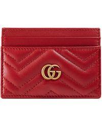 Gucci Gg marmont kartenetui - Rot