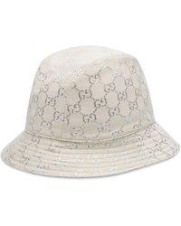 Gucci Sombrero tipo pescador de GG lamé - Blanco