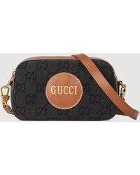 Gucci 【公式】 (グッチ) スクリプト ロゴ ショルダーバッグダークグリーン ウールグリーン - マルチカラー