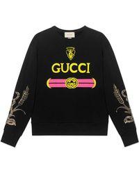 Gucci Sweatshirt mit Logo - Schwarz