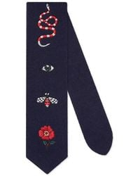 Gucci Embroidered Wool Tie