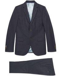 Gucci - Monaco G Dot Wool Suit - Lyst