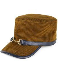 Gucci Hut aus Cordsamt - Blau