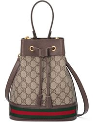 Gucci Ophidia Small GG Bucket Bag - Natural