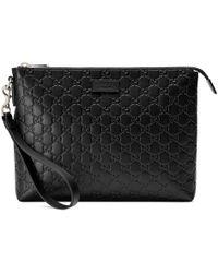 Gucci Herrentasche aus weichem Signature - Schwarz