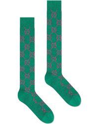 Gucci Lamé GG Socks - Green