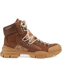 Gucci - Sneaker Flashtrek GG alta - Lyst