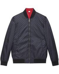 zapatos de otoño nuevos productos para ahorros fantásticos Reversible GG Nylon Bomber Jacket - Blue