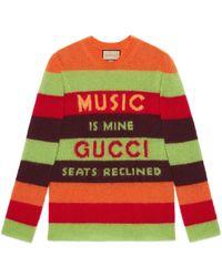 Gucci 100 pullover aus wolle - Orange