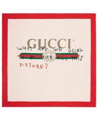 Gucci - Coco Capitán Print Silk Scarf - Lyst