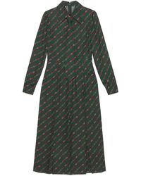 Gucci - Interlocking G And Belts Print Dress - Lyst