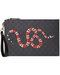 Gucci - GG Pouch With Kingsnake - Lyst
