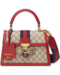 8bb94bcc35eaa0 Gucci Borsa a mano Queen Margaret in tessuto GG Supreme misura piccola