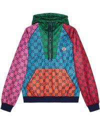 Gucci GG Multicolor Pullover aus Jersey - Blau