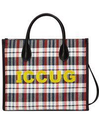 Gucci Borsa shopping misura piccola con ricamo ICCUG - Nero