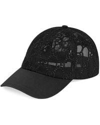 Gucci GG Embroidered Baseball Hat - Black