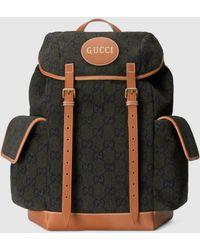 Gucci 【公式】 (グッチ) スクリプト ロゴ バックパックダークグリーン ウールグリーン - マルチカラー