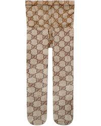 Gucci Collants à motif GG - Neutre