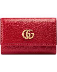 Gucci Schlüsseletui aus Leder - Rot