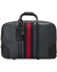 Gucci - Sac de voyage cabine en toile Suprême GG souple à roulettes - Lyst