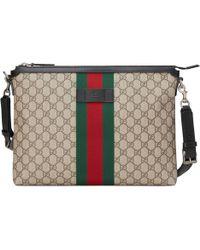 Gucci GG Supreme Medium Messenger Bag - Natural