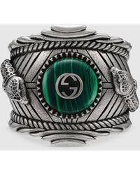 Gucci Garden Ring aus Silber - Grün